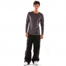 Mons Royale Men's Long Sleeve Slim fit  Gun Metal