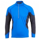 Ronhill  Trail L/S Zip Tee, herre, Ocean/Black