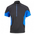 Ronhill  Trail S/S Zip Tee, herre, Black / Ocean